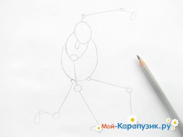 Поэтапное рисование железного человека цветными карандашами - фото 2
