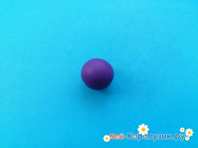 Лепка баклажана из пластилина - фото 2