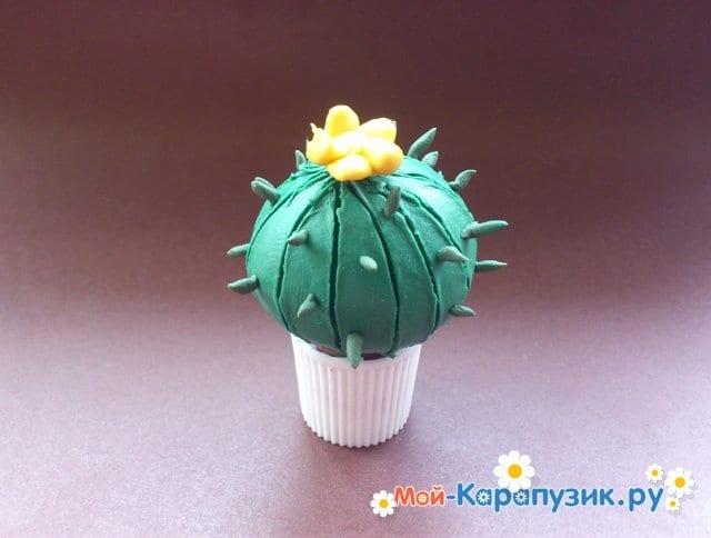 Лепка кактуса из пластилина - фото 10