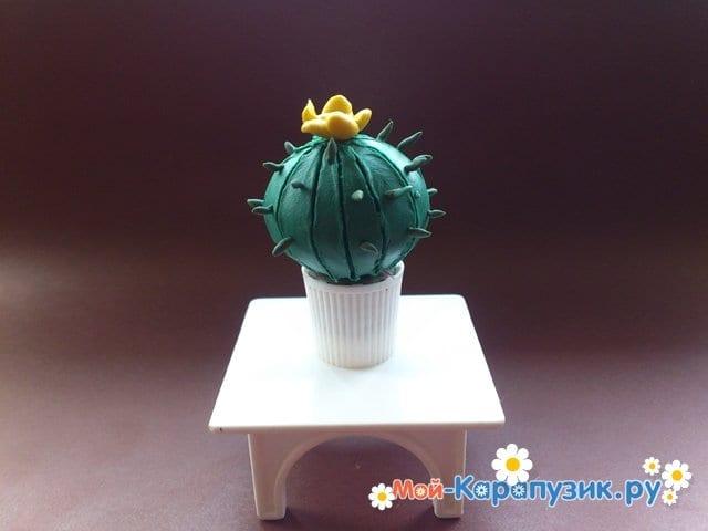 Лепка кактуса из пластилина - фото 11