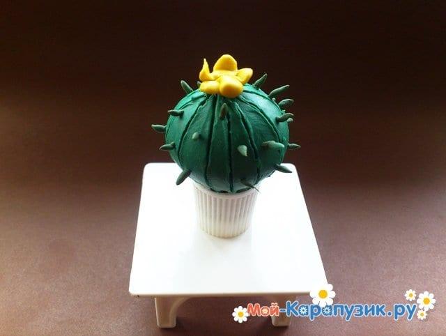 Лепка кактуса из пластилина - фото 12