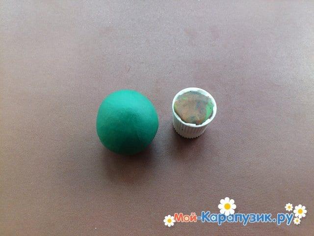 Лепка кактуса из пластилина - фото 2