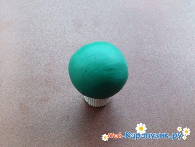 Лепка кактуса из пластилина - фото 4