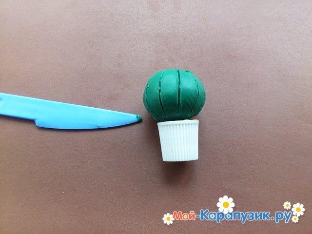 Лепка кактуса из пластилина - фото 5