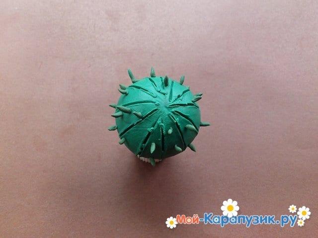 Лепка кактуса из пластилина - фото 6