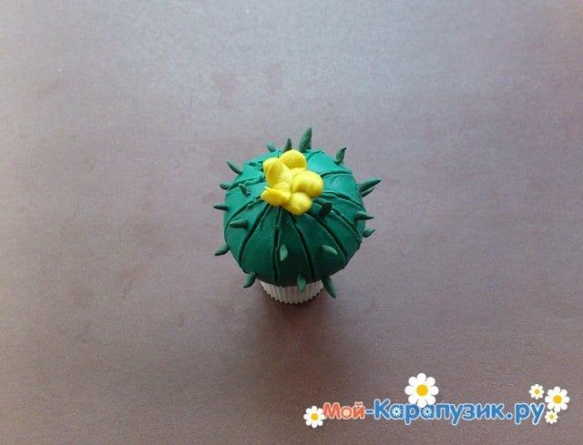 Лепка кактуса из пластилина - фото 8