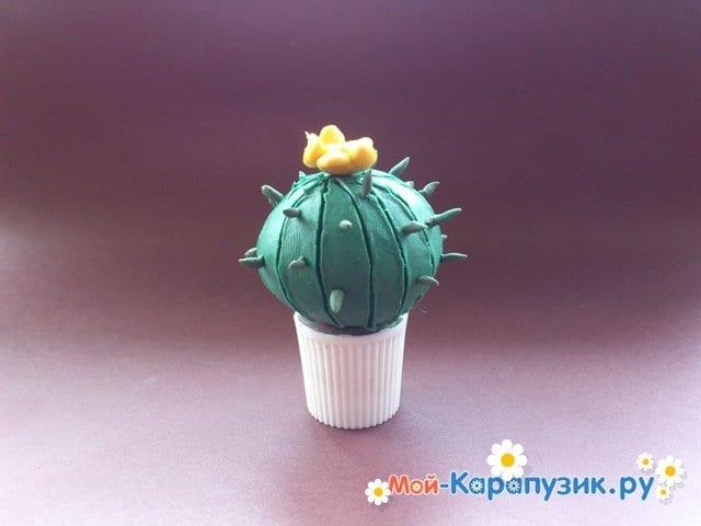 Лепка кактуса из пластилина - фото 9