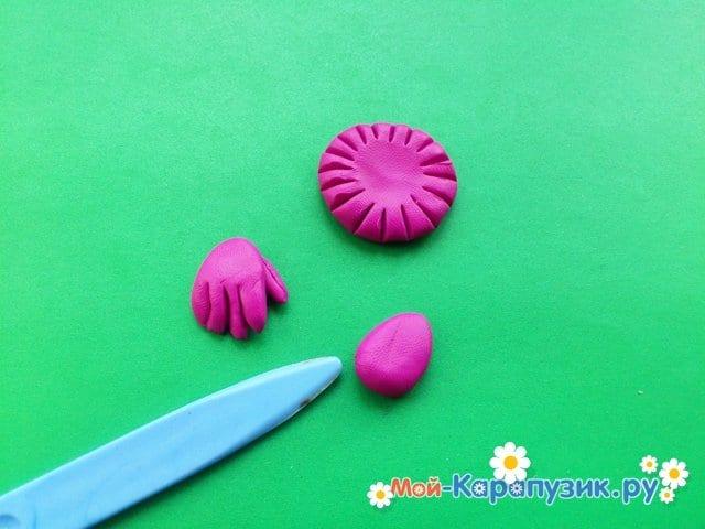 Лепка клоуна из пластилина - фото 12