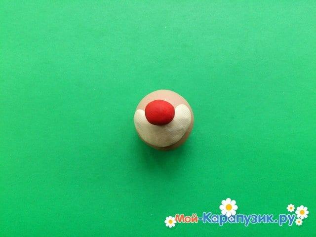 Лепка клоуна из пластилина - фото 2