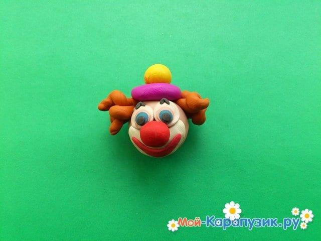 Лепка клоуна из пластилина - фото 6