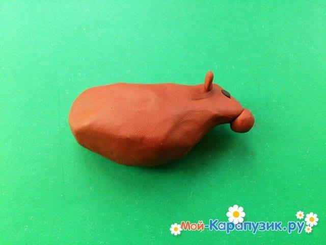 Лепка коровы из пластилина - фото 4