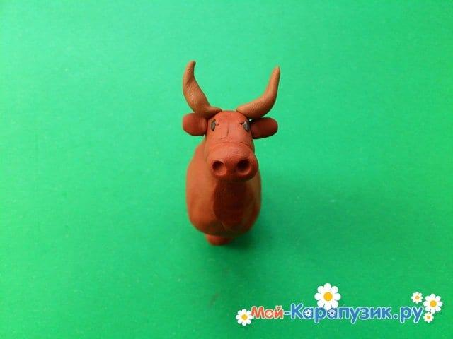 Лепка коровы из пластилина - фото 5