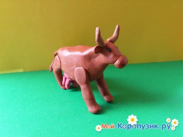 Лепка коровы из пластилина - фото 9