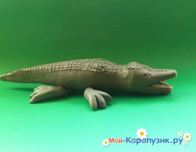 Лепка крокодила из пластилина - фото 11