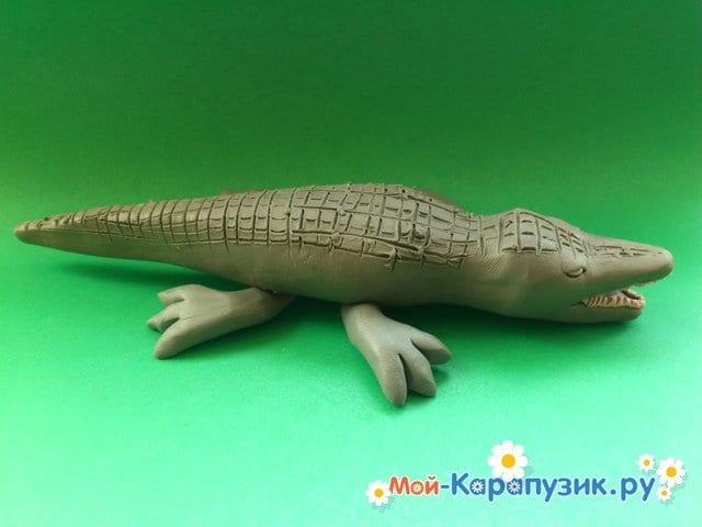 Лепка крокодила из пластилина - фото 12