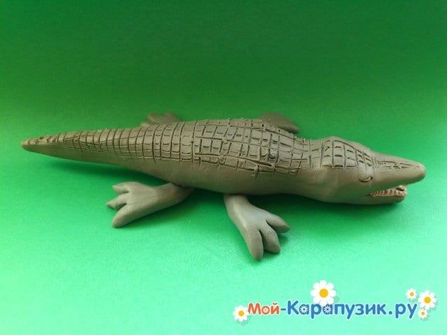 Лепка крокодила из пластилина - фото 13