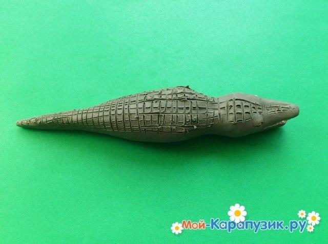 Лепка крокодила из пластилина - фото 6