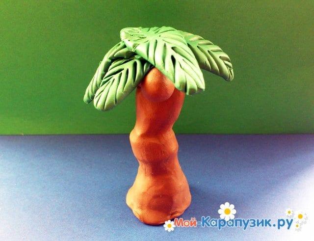 Лепка пальмы из пластилина - фото 12