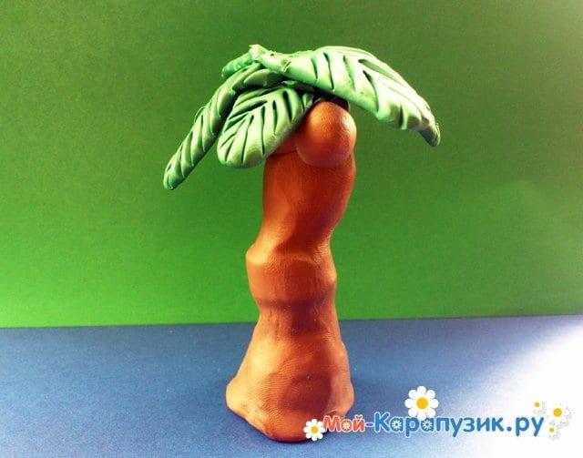 Лепка пальмы из пластилина - фото 13