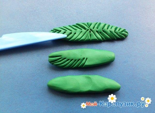 Лепка пальмы из пластилина - фото 7