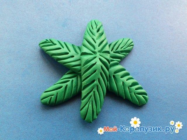 Лепка пальмы из пластилина - фото 8