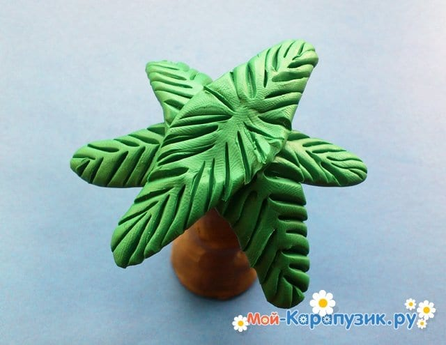 Лепка пальмы из пластилина - фото 9