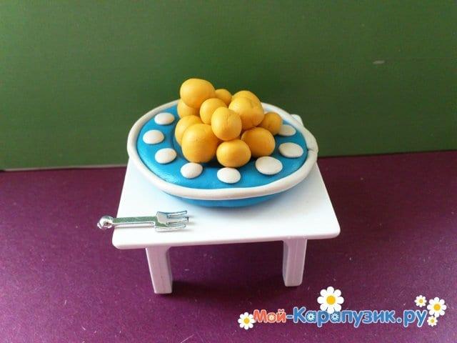 Лепка тарелки из пластилина - фото 10