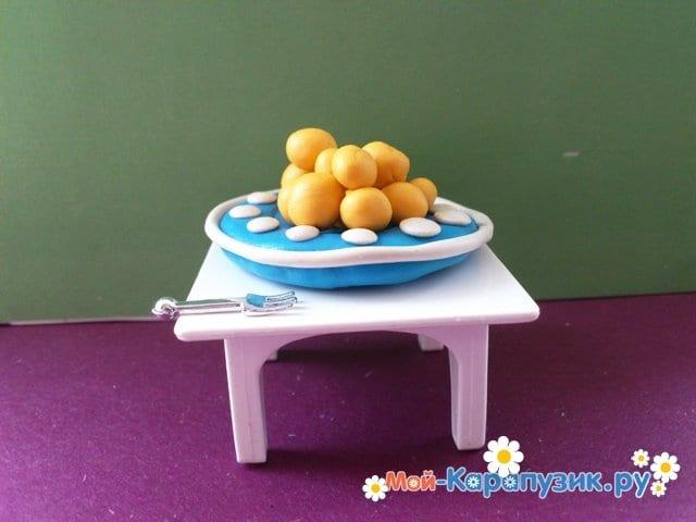 Лепка тарелки из пластилина - фото 11