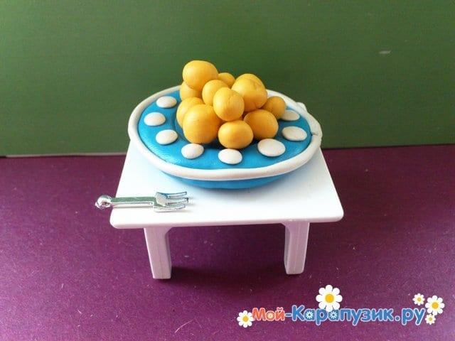 Лепка тарелки из пластилина - фото 12