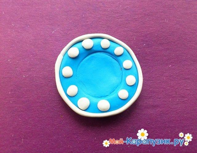 Лепка тарелки из пластилина - фото 6