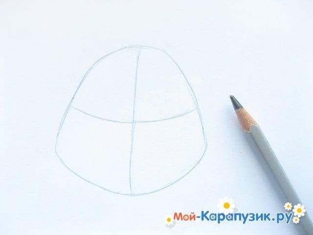 Поэтапное рисование головы черепашки-ниндзя - фото 2