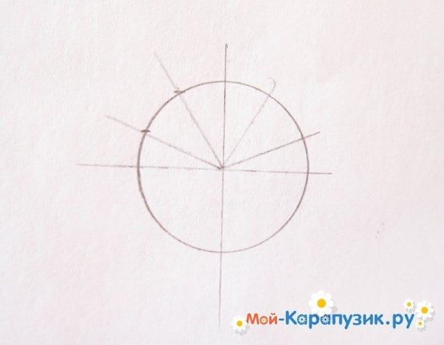 Поэтапное рисование Бараша из Смешариков цветными карандашами - фото 3