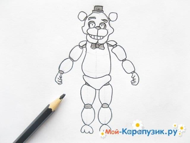 Поэтапное рисование мишки Фредди - фото 14