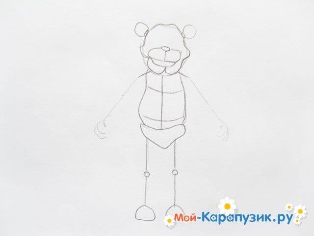 Поэтапное рисование мишки Фредди - фото 7