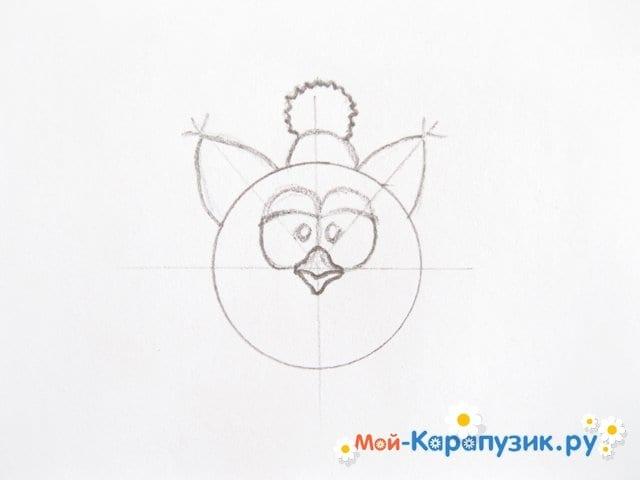 Поэтапное рисование Совуньи из смешариков цветными карандашами - фото 6