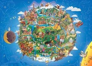 Какой я представляю себе Землю глядя на глобус