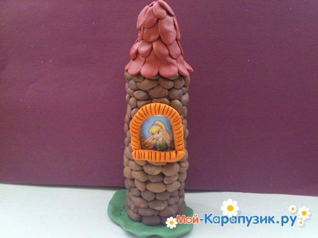 Лепка башни из пластилина - фото 10