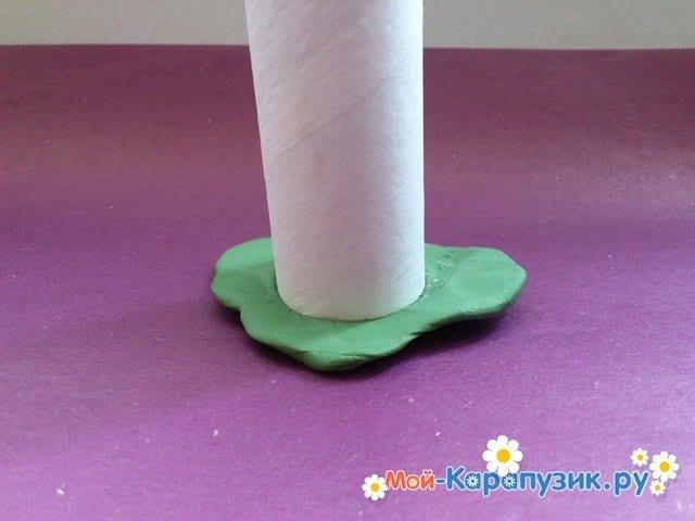 Лепка башни из пластилина - фото 2