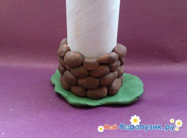 Лепка башни из пластилина - фото 6