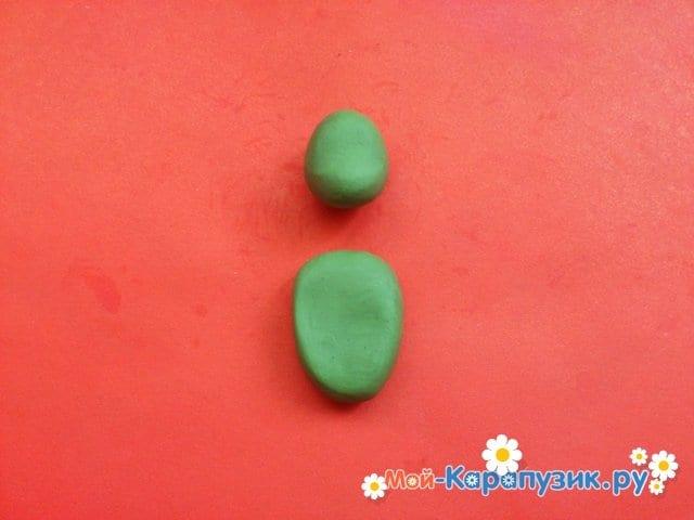 Лепка черепашки-ниндзя из пластилина - фото 2