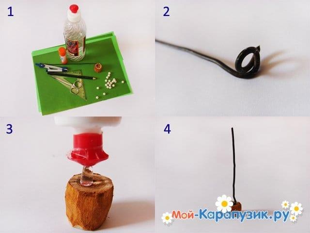 Изготовление елочки из бумаги - фото 1