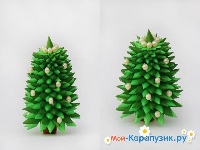 Изготовление елочки из бумаги - фото 5