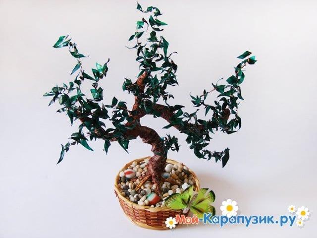 Изготовление дерева из пластиковой бутылки - фото 26