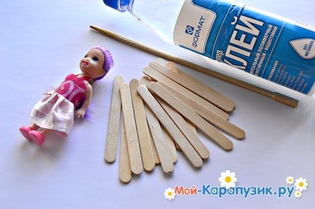 Как сделать кроватку для кукол своими руками 65