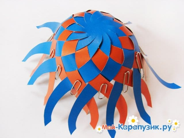 Изготовление воздушного шара из бумаги - фото 14