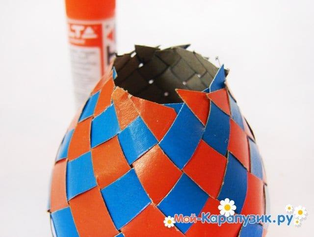 Изготовление воздушного шара из бумаги - фото 21