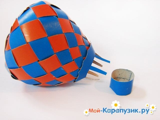 Изготовление воздушного шара из бумаги - фото 30