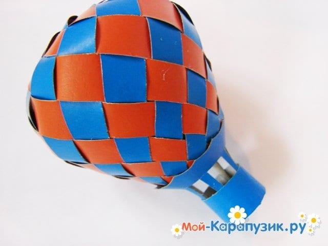 Изготовление воздушного шара из бумаги - фото 31