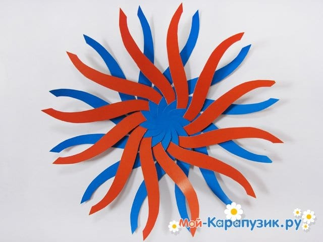 Изготовление воздушного шара из бумаги - фото 8