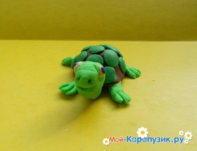 Лепка черепахи из пластилина - фото 12